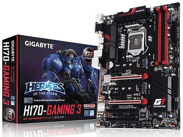 Placa Mãe Lga 1151 Intel Gigabyte Ga-H170-Gaming 3 Atx Ddr4 Crossfire