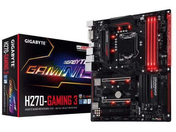 Placa Mãe Lga 1151 Intel Gigabyte Ga-H270-Gaming 3 Atx Ddr4 Usb 3.1