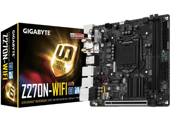 Placa Mãe Lga 1151 Intel Gigabyte Ga-Z270N-Wifi M-Itx Ddr4 Usb 3.1