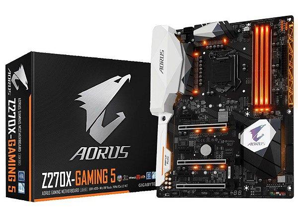 Placa Mãe Lga 1151 Intel Gigabyte Ga-Z270X-Gaming 5 Aorus Atx Ddr4