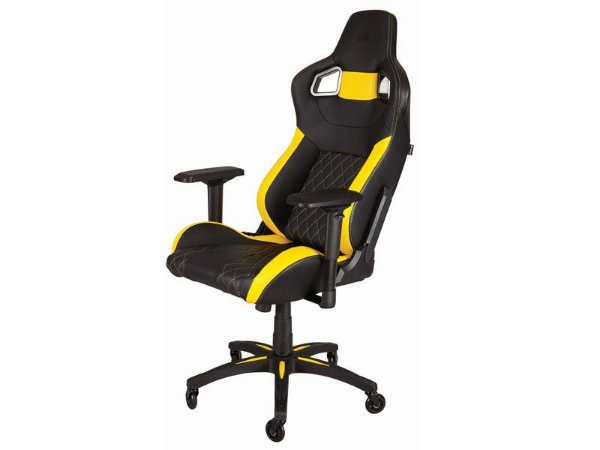 Cadeira Gamer Corsair T1 Race Preta/Amarela