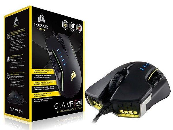 Mouse Gamer Corsair Ch-9302111-Na Glaive Optico 16000Dpi Rgb Alumínio