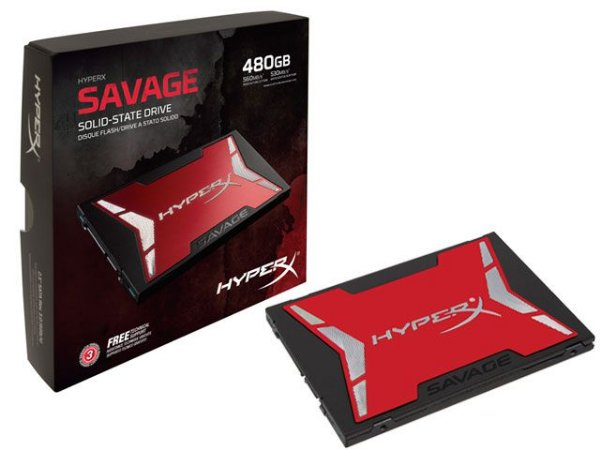 "Ssd Gamer Hyperx Shss37A/480G Savage 480Gb 2.5"" Sata Iii Box"