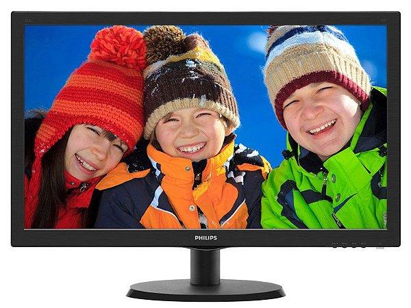 Monitor Led 18,5 Philips 193V5Lsb2 1366 X 768 Wide Vga Vesa Preto
