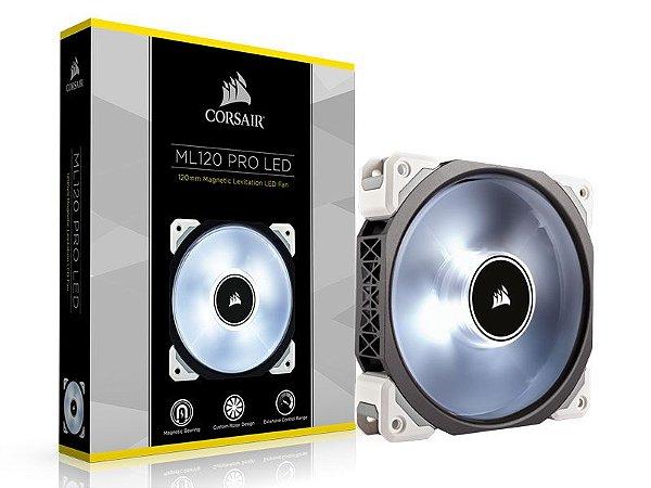 Cooler fan corsair ml120 pro 120 mm Co-9050041-Ww com led branco