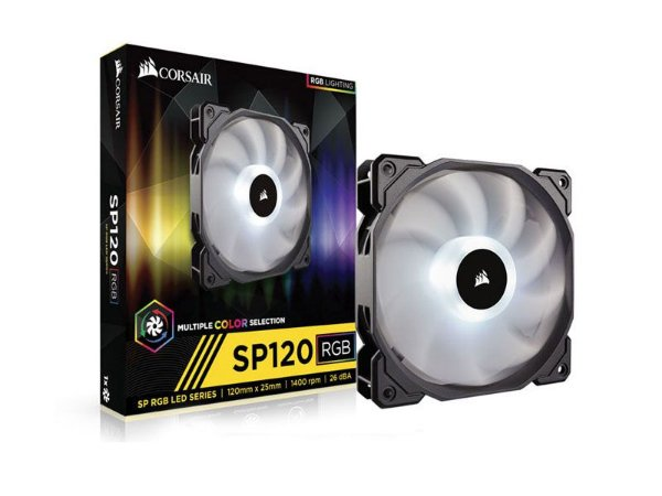 Cooler Corsair Co-9050059-Ww Sp120 High Performance Rgb Led 120Mm