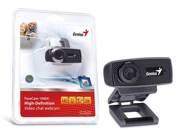 Webcam Genius 32200223101 Facecam 1000X V2 Hd 720P Usb 2.0 Zoom 3X