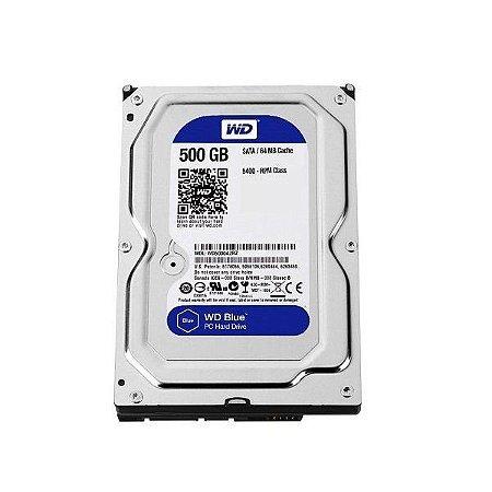 Hd Interno 500gb Western Digital blue Wd5000azlx Sata3 32mb Nacional