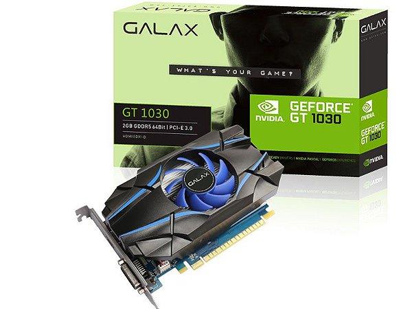 Placa de vídeo nvidia galax gt 1030 2gb ddr5 64bit 6008Mhz