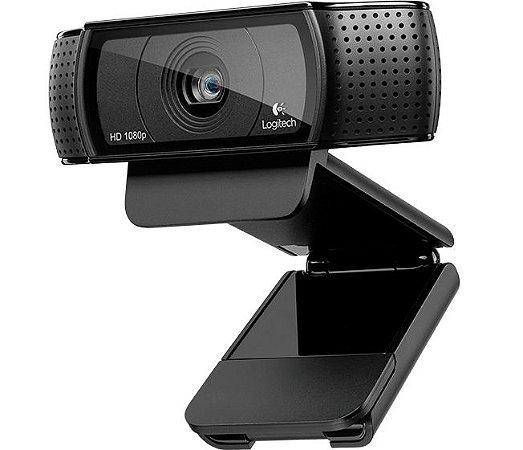 Web cam Logitech c920 hd pro 1080p preta com mic 960-000764