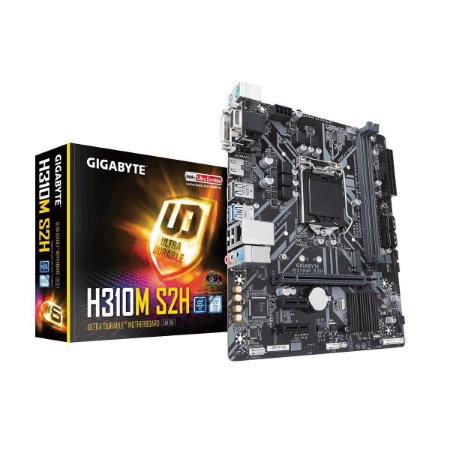 Placa mãe socket 1151 intel gigabyte ga h310m s2h (rev 1.0) ddr4 coffe lake