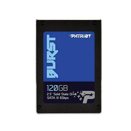 Ssd gamer Patriot Burst 2.5 120gb sata III 6gbps PBU120GS25SSDR