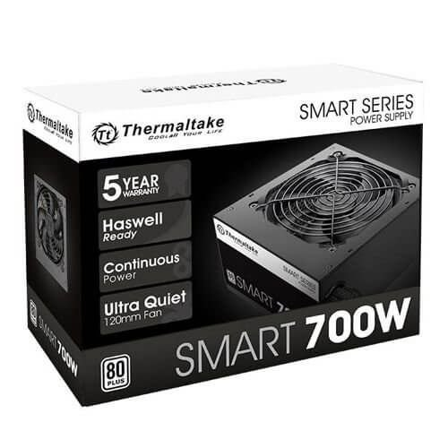 Fonte 80plus Thermaltake 700w smart series pfc ativo white PS-SPD-0700NPCWBZ-W