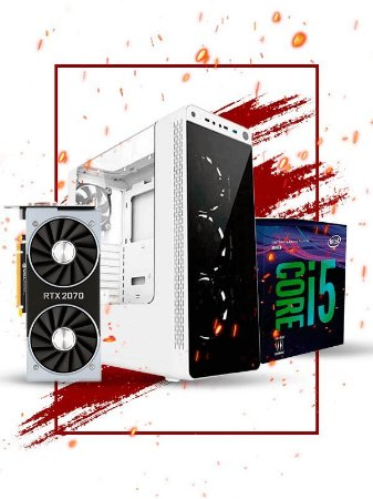 Pc Gamer Intel, i5 8400, Rtx 2070 8gb, 16gb ram, 1tb hd, ssd 120gb, fonte 700w