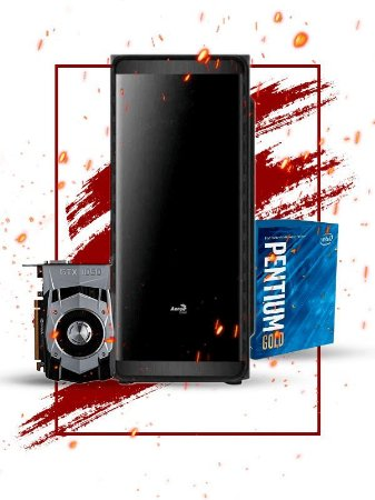 Pc Gamer Intel, Pentium g5400, Gtx 1050 2gb, 8gb de ram, hd 1tb, fonte 400W