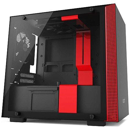 Gabinete Gamer NZXT H200 Red, CA-H200B-BR