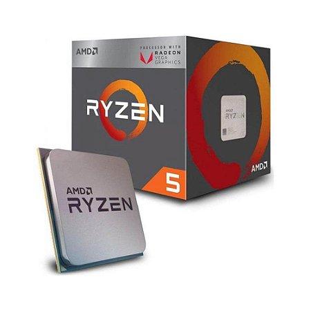 Processador AMD Ryzen 5 2400G 3.9GHz AM4, YD2400C5FBBOX