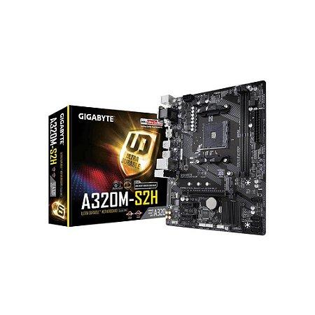 Placa mãe socket Am4 AMD Gigabyte B320M-S2H, 9MA32MS2H-00-11