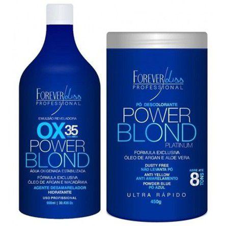 POWER BLOND Kit Descoloração Perfeita ( OX35 + Pó Descolorante) FOREVERLISS