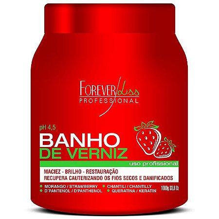 Máscara Banho de Verniz Morango FOREVERLISS 1kg