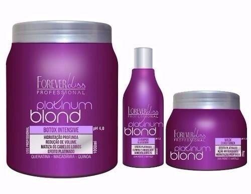 Kit Loira Poderosa Platinum Blond FOREVER LISS
