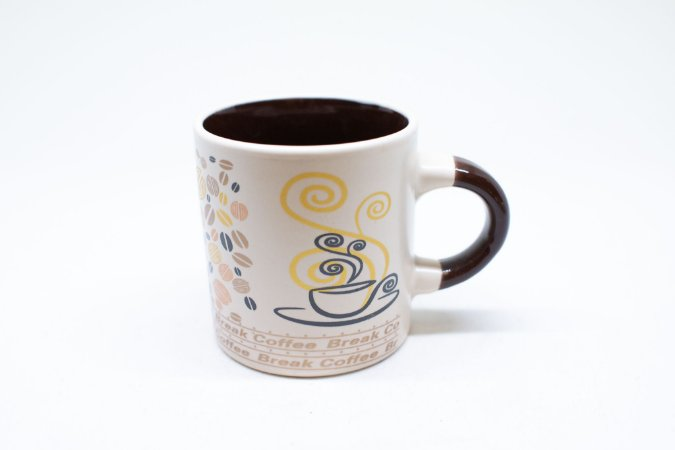 Caneca de cerâmica fumaça de café 110ml