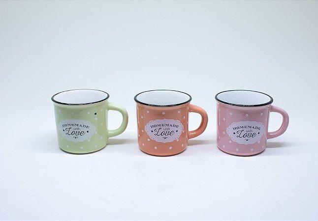 Caneca de porcelana para café de poá 70ml