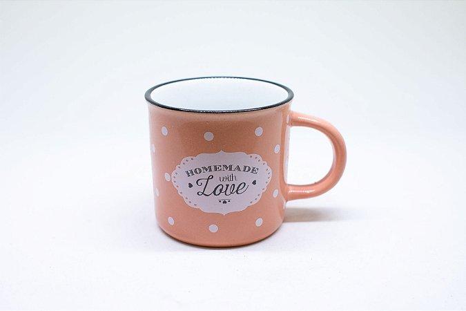 Caneca de porcelana para café de poá 200ml