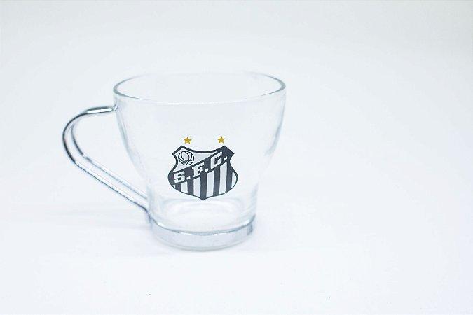Caneca em vidro do Santos