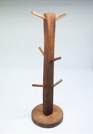 Suporte para canecas em madeira