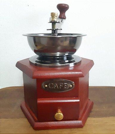 Moedor de café de madeira quadrangular P