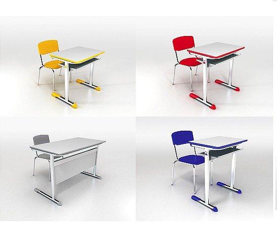 Conjunto escolar mesa e cadeira