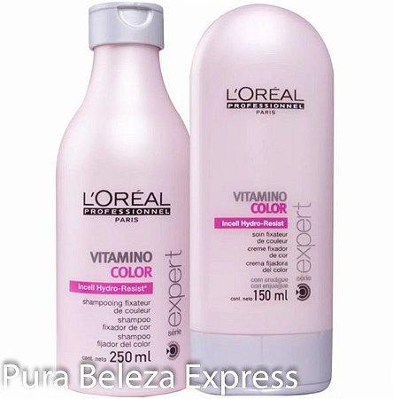 2dc6d2dae Loreal Vitamino Color Shampoo 250ml + Condicionador 150ml - Pura ...
