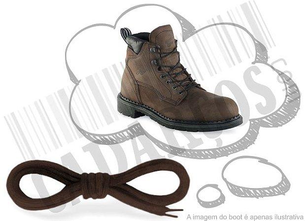 Cadarço de Boot ou Bota Marrom Escuro Redondo Pol 120cm (Par)