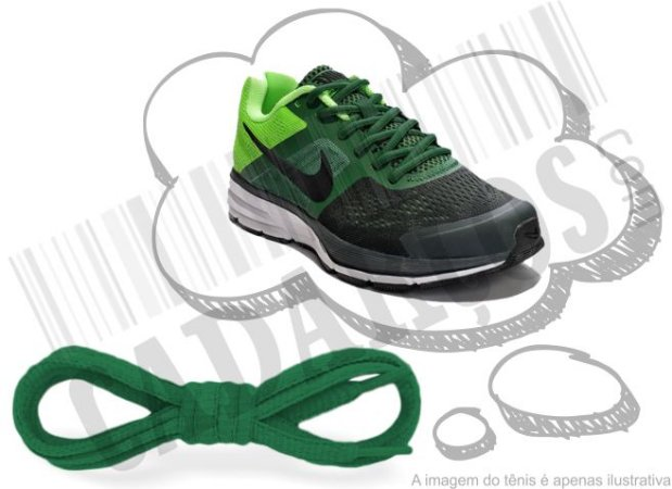 Cadarço de Tênis Verde Oval Pol 120cm (Par)