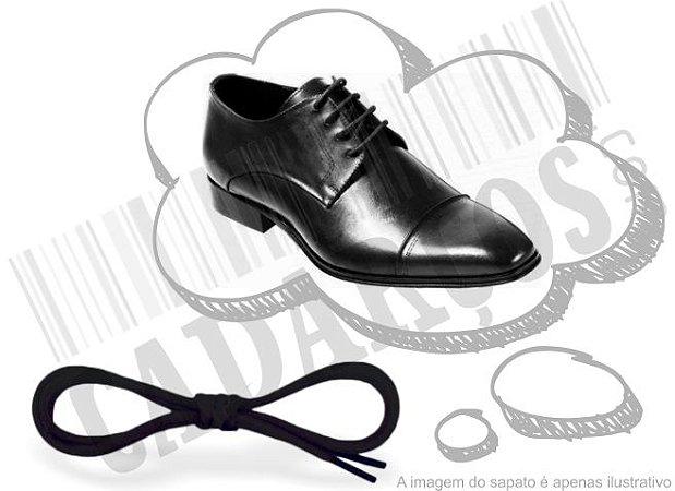Cadarço de Sapato Preto Encerado Redondo Alg 70cm (Par)