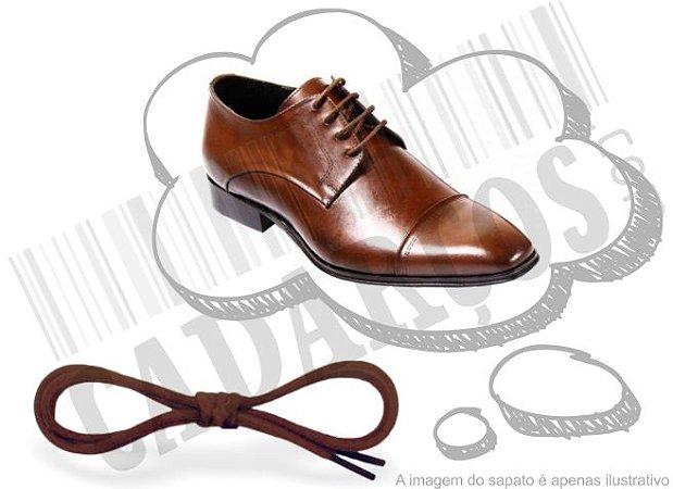 Cadarço de Sapato Marrom Encerado Redondo Pol 70cm (Par)