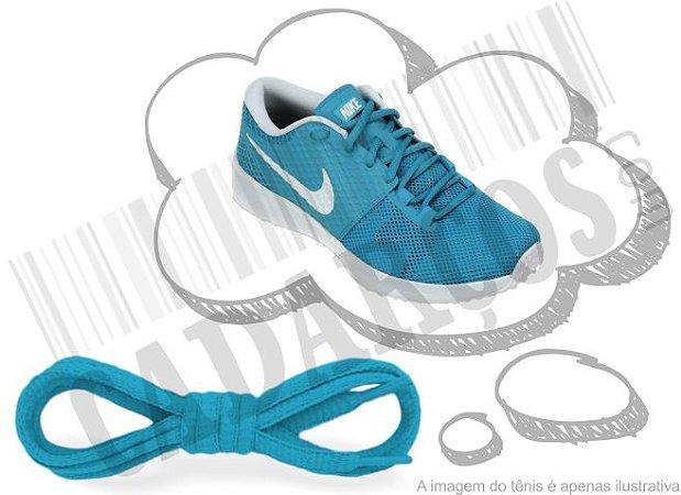 Cadarço de Tênis Azul Turquesa Oval Pol 120cm (Par)