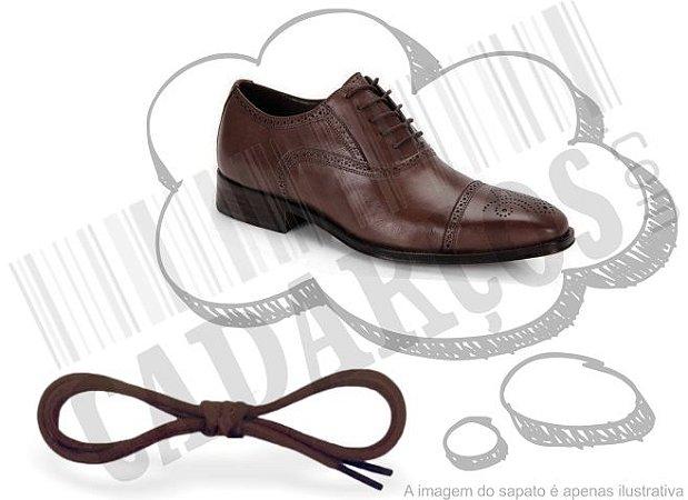 Cadarço de Sapato Marrom Encerado Redondo Alg 60cm (Par)
