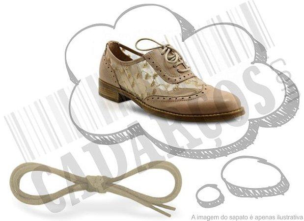 Cadarço de Sapato Bege Redondo Pol 60cm (Par)
