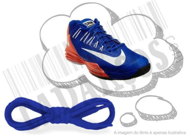 Cadarço de Tênis Azul Oval Pol (Par)