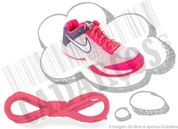 Cadarço de Tênis Rosa Fluorescente Oval Pol (Par)