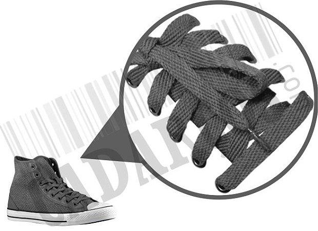 Cadarço de Tênis e Sapatênis Cinza Escuro Achatado Pol (Par)