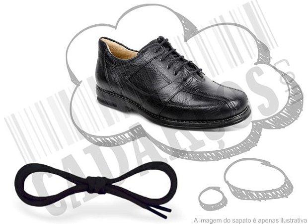 Cadarço de Sapato Preto Redondo Alg (Par)