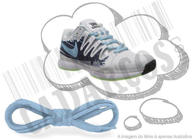 Cadarço de Tênis Azul Bebê Oval Pol 120cm (Par)