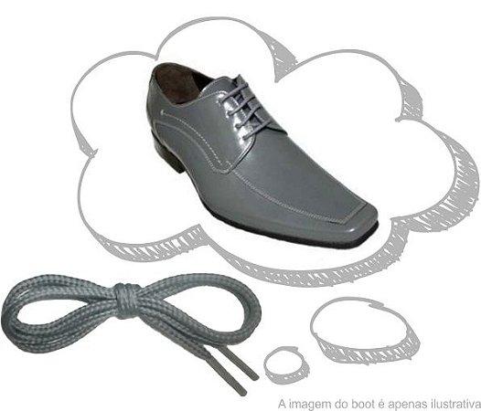 Cadarço de Sapato Cinza Redondo Pol 60cm (Par)