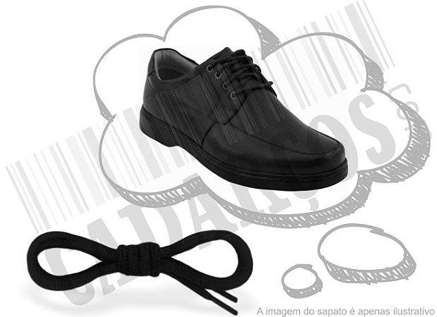Cadarço de Sapato Preto Redondo Pol 60cm (Par)