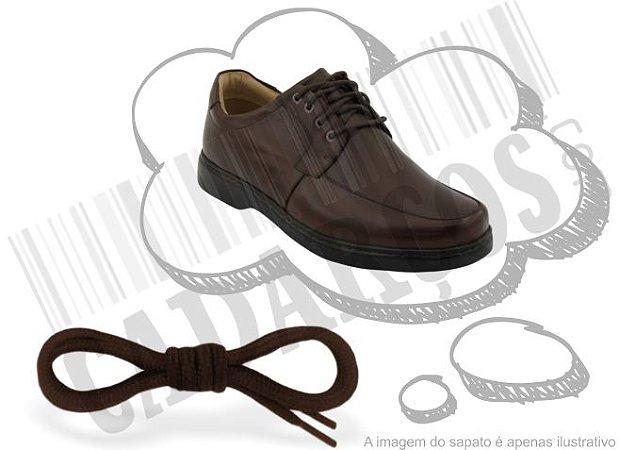 Cadarço de Sapato Marrom Escuro Redondo Pol 60cm (Par)