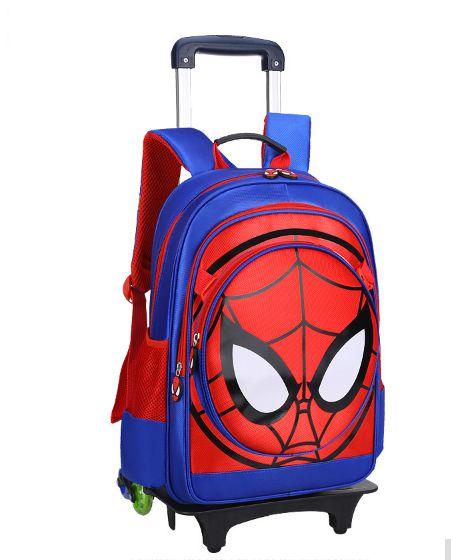 Mochila Escolar Infantil Homem Aranha com Rodinhas