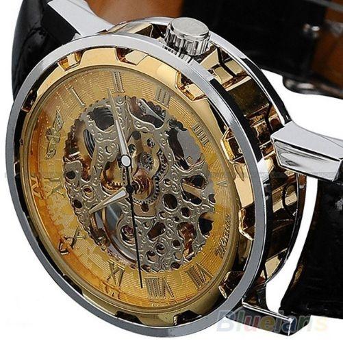 2e7581d9973 Relógio esqueleto Winner - modelo Skeleton Suiço W1507 - RPi Shop